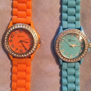 Geneva watches  $9 each or both for $15